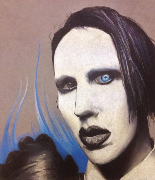 Marilyn Manson par dbishoptattoo